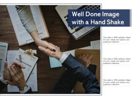 Well Done Image With A Hand Shake