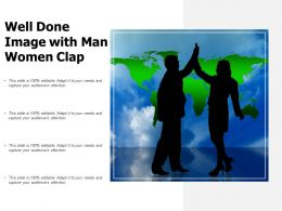 Well Done Image With Man Women Clap