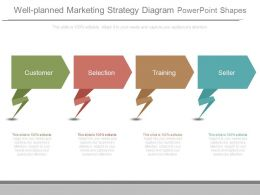 Well Planned Marketing Strategy Diagram Powerpoint Shapes