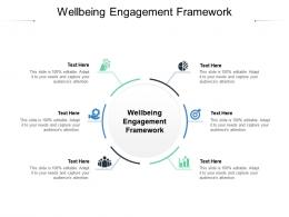 Wellbeing Engagement Framework Ppt Powerpoint Presentation Show Icons Cpb