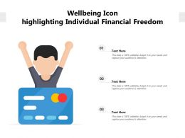 Wellbeing Icon Highlighting Individual Financial Freedom
