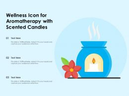 Wellness Icon For Aromatherapy With Scented Candles
