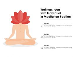 Wellness Icon With Individual In Meditation Position