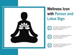 Wellness Icon With Person And Lotus Sign