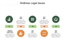 Wellness Legal Issues Ppt Powerpoint Presentation Styles Visual Aids Cpb