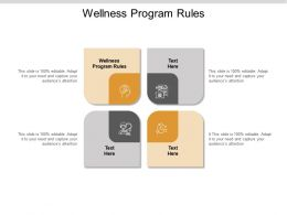 Wellness Program Rules Ppt Powerpoint Presentation Professional Graphics Example Cpb