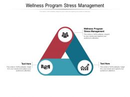 Wellness Program Stress Management Ppt Powerpoint Presentation Outline Inspiration Cpb