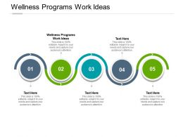 Wellness Programs Work Ideas Ppt Powerpoint Presentation Outline Cpb