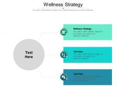 Wellness Strategy Ppt Powerpoint Presentation Visual Aids Outline Cpb