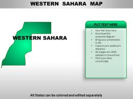 Western Sahara Country Powerpoint Maps