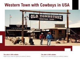 Western Town With Cowboys In USA