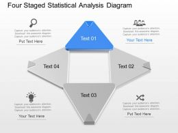 Wh Four Staged Statistical Analysis Diagram Powerpoint Template