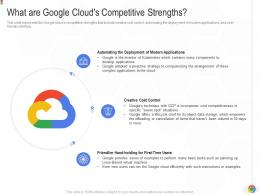 What Are Google Clouds Competitive Strengths Google Cloud IT Ppt Professional