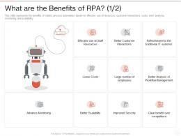 What Are The Benefits Of RPA Costs Ppt Powerpoint Presentation Gallery Example File