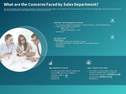 What Are The Concerns Faced By Sales Department Ppt Powerpoint Presentation Styles Ideas