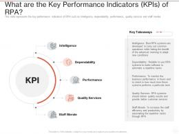 What Are The Key Performance Indicators KPIS Of RPA Ppt Powerpoint Presentation Layouts