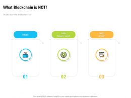 What Blockchain Is Not Bitcoin Technology Ppt Powerpoint Presentation Visuals