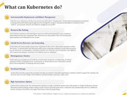 What Can Kubernetes Do Clusters Ppt Powerpoint Presentation File Display