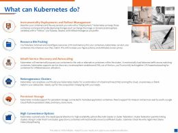 What Can Kubernetes Do Inbuilt Service Discovery And Autoscaling Ppt Picture