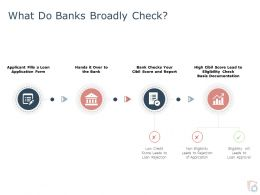 What Do Banks Broadly Check Ppt Powerpoint Presentation Infographics Designs