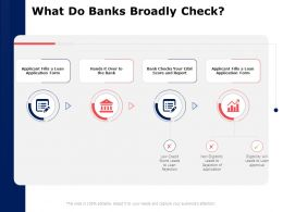 What Do Banks Broadly Check Report Ppt Powerpoint Presentation Visuals