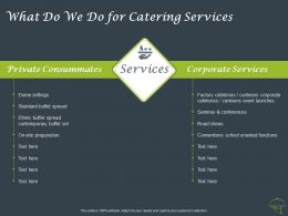What Do We Do For Catering Services Ppt Powerpoint Presentation Ideas Guidelines
