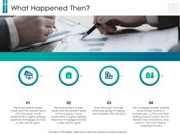 What Happened Then Gold Ppt Powerpoint Presentation Portfolio Examples