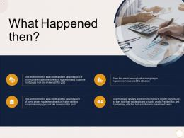 What Happened Then Higher Yielding Ppt Powerpoint Presentation Ideas Example
