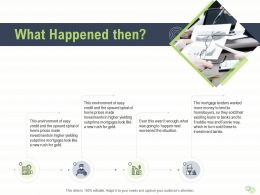 What Happened Then N478 Powerpoint Presentation Graphic Images