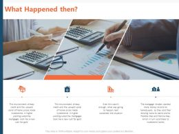 What Happened Then Ppt Powerpoint Presentation Model Themes