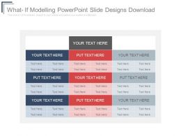 What If Modelling Powerpoint Slide Designs Download