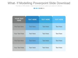 What If Modelling Powerpoint Slide Download