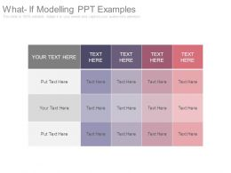 What If Modelling Ppt Examples