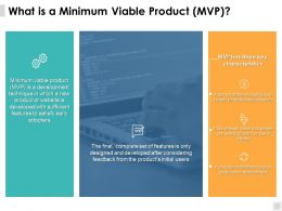 What Is A Minimum Viable Product Mvp Development Ppt Powerpoint Presentation