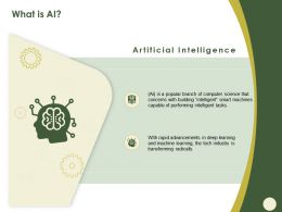 What Is AI Smart M582 Ppt Powerpoint Presentation Outline Demonstration