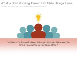 What Is Brainstorming Powerpoint Slide Design Ideas