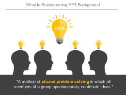 What Is Brainstorming Ppt Background