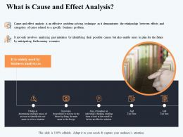 What Is Cause And Effect Analysis But Also Ppt Powerpoint Presentation Model Template