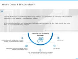 What Is Cause And Effect Analysis Ppt Powerpoint Presentation Professional Smartart
