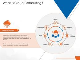 What Is Cloud Computing Cloud Computing Ppt Icons
