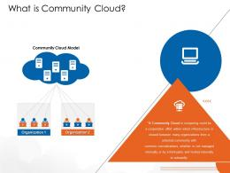 What Is Community Cloud Cloud Computing Ppt Structure
