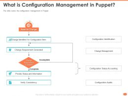 What Is Configuration Management In Puppet Verify Incomplete Ppt Icons