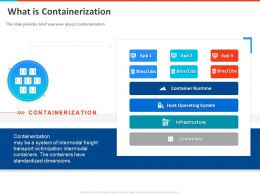 What Is Containerization Dimensions Powerpoint Presentation Example