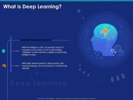 What Is Deep Learning Tasks Ppt Powerpoint Presentation Show Designs