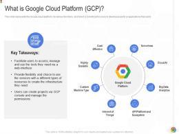 What Is Google Cloud Platform GCP Google Cloud IT Ppt Background Introduction