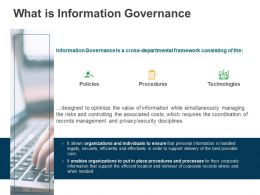 What Is Information Governance Order Ppt Powerpoint Presentation Icon