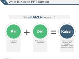 What Is Kaizen Ppt Sample