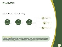 What Is ML Ordinary System Ppt Powerpoint Presentation Show Shapes