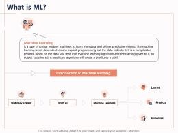 What Is ML Process Output Powerpoint Presentation Maker