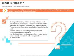 What Is Puppet Unendingly Checking And Confirming Powerpoint Presentation Skills